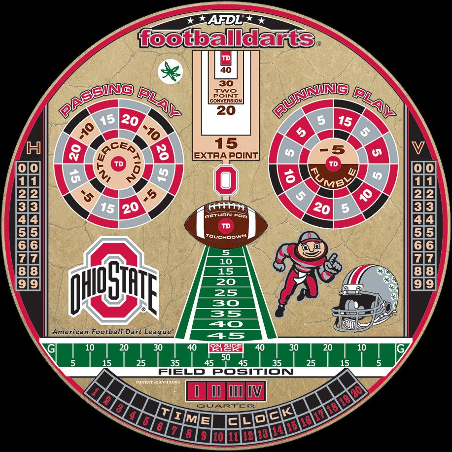 Ohio State Buckeyes - Football Darts | The Original | Game
